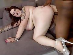 BBW Big Boobs Big Butts Blowjob Interracial