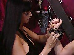 BDSM Lesbian Brunette Latex Big Boobs