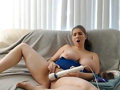 Babe Big Boobs Masturbation