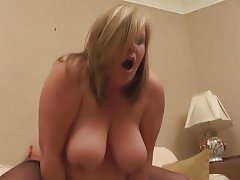 BBW Big Boobs Blonde British MILF