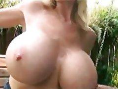Big Boobs Blonde Masturbation Outdoor
