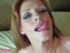 Big Boobs Blowjob Facial MILF