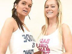 Blonde Brunette Lesbian Teen