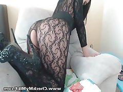 Big Boobs Lingerie Masturbation MILF Stockings