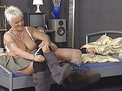 Amateur BBW Big Boobs Blonde Threesome