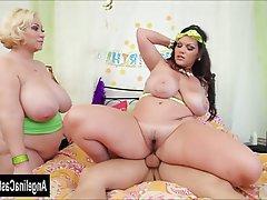 BBW Big Boobs Big Butts MILF Threesome
