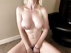 Babe Blonde Dildo Big Tits