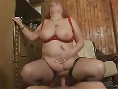 BBW Big Boobs Facial Granny Hardcore