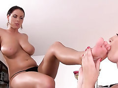 Babe Big Tits Blowjob Feet Fetish