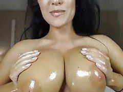Big Boobs British Brunette Masturbation Webcam