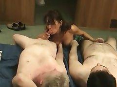 Big Boobs Blowjob Brunette MILF Threesome