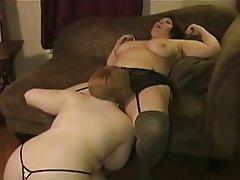 Amateur BBW Big Boobs Lesbian Lingerie