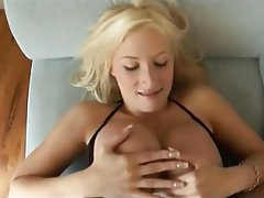 Big Boobs Blonde Pornstar POV Stockings